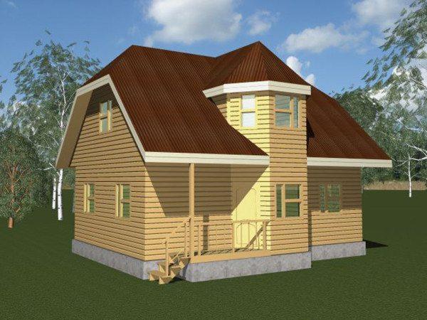3D проект недорогого дома