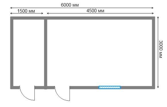 Бытовка из бруса 6х3: план строения