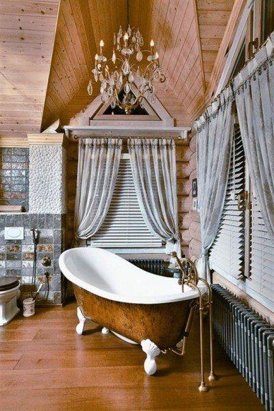 Даже ванная демонстрирует капитал хозяев