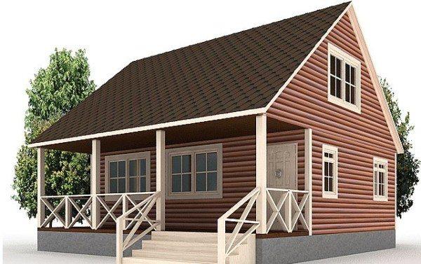 Деревянное здание выглядит очень красиво. Да и жить в нем - одно удовольствие