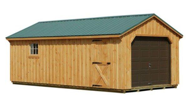Деревянный брус - отличный материал для хозяйственных построек