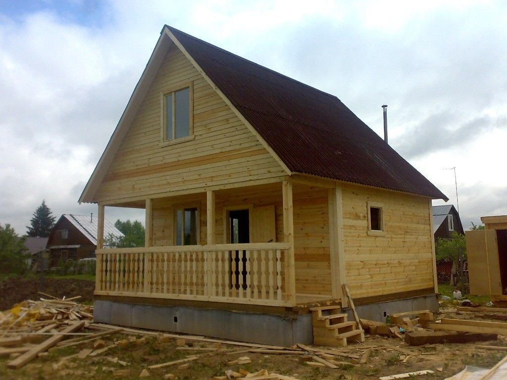 Дом с бруса своими руками фото