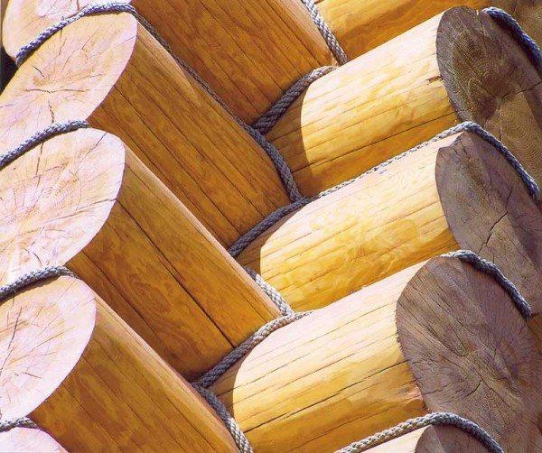 Диаметр ствола приближен к размеру оцилиндрованного готового бруса, что усложняет подбор материала и удорожает его.