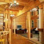 Дизайн интерьере деревянного дома из бруса