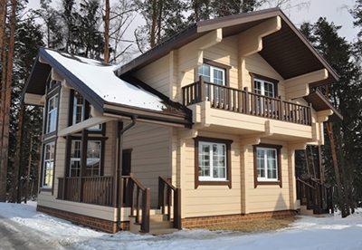 Дизайн фасада и архитектура постройки не ограничены особенностями материала