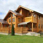 Дом из бруса естественной влажности