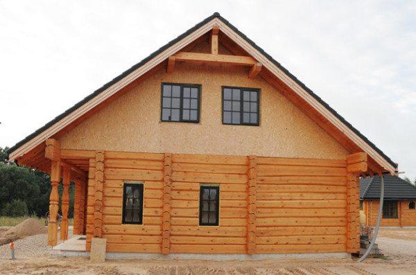 Дом из бруса профилированного двухэтажный