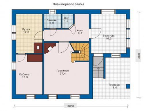 Достаточно простой план быстровозводимого дома