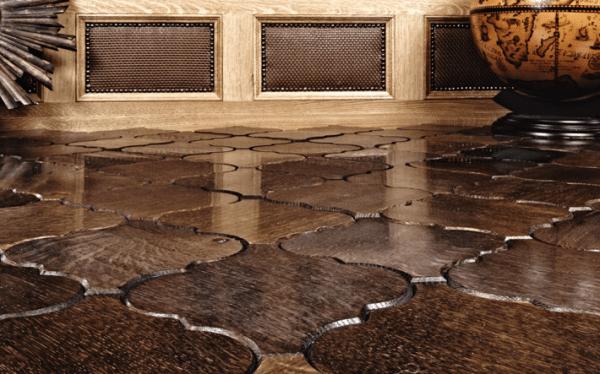 Эффектная деревянная плитка