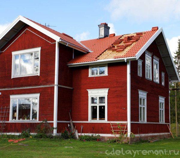 Если в жидкий утеплитель добавит немного краски, то готовое строение ничем не будет отличаться от окрашенного здания