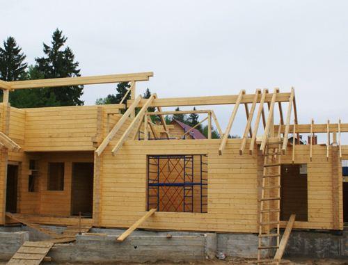 Этапы сборки домов из клееного бруса
