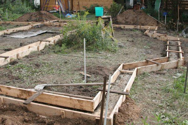 Фото – фундамент дома.