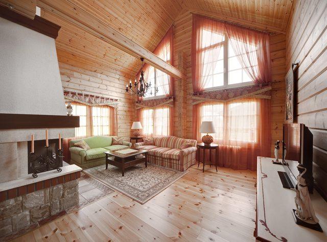 Интерьеры деревянного дома второй свет