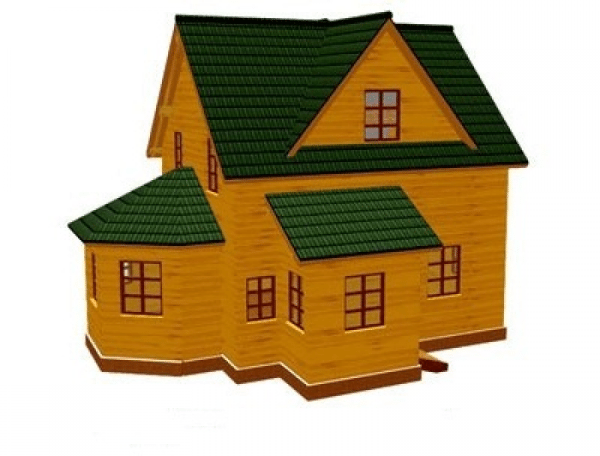 Фото готового дома из профилированного пиломатериала.