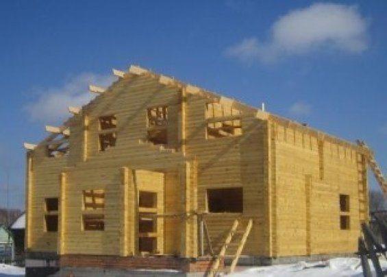 Фото строительства крыши.