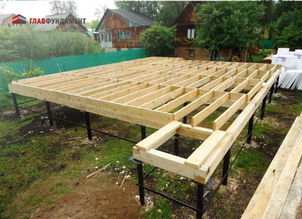 Фото винтового свайного фундамента для деревянного дома