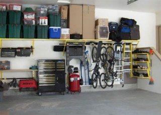 Фото внутреннего обустройства гаража