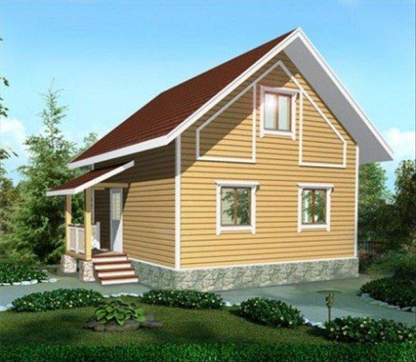 Готовый проект брусового дома