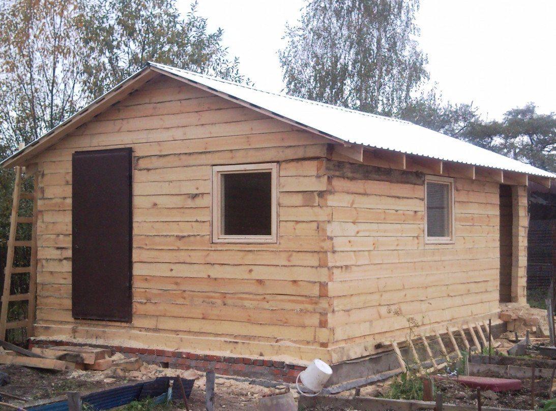 Сарай из бруса своими руками строительство деревянных 89