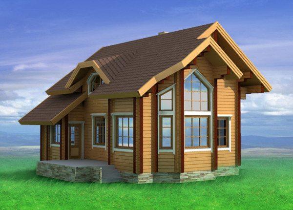 Интересны проекты брусковых домов с рациональной планировкой, рассчитанные на небольшую семью.