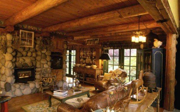 Интересные проекты по отделке брусового дома