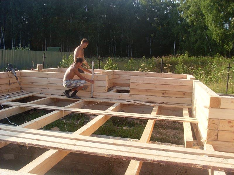 Построить брусовый дом своими руками видео