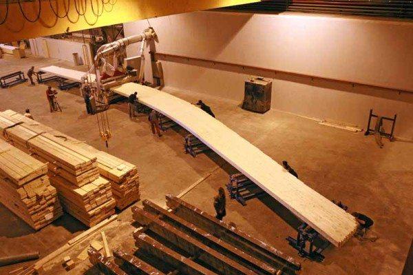 Изготовление бруса на заводе