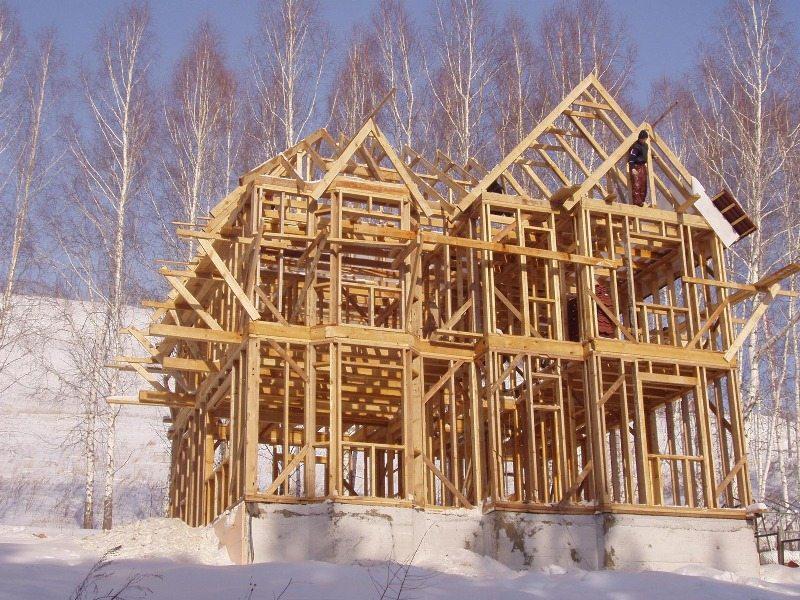 Как построить дом каркасный из бруса