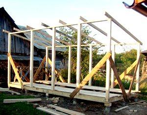 Построить большой сарай своими руками