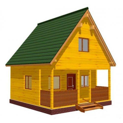 Компактный домик для дачи