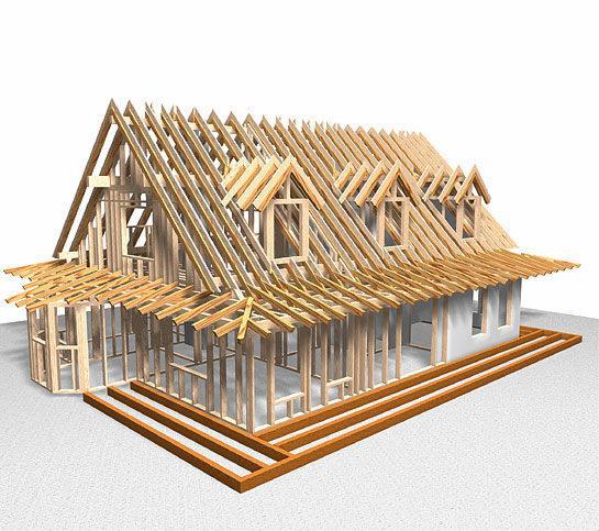 Конструкция дома из бруса: стропильная система