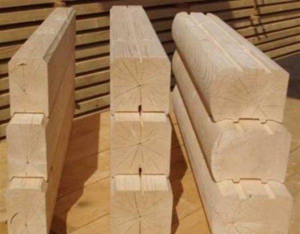 Любительское фото, на котором представлены различные типы сечения бруса с разными геометрическими формами