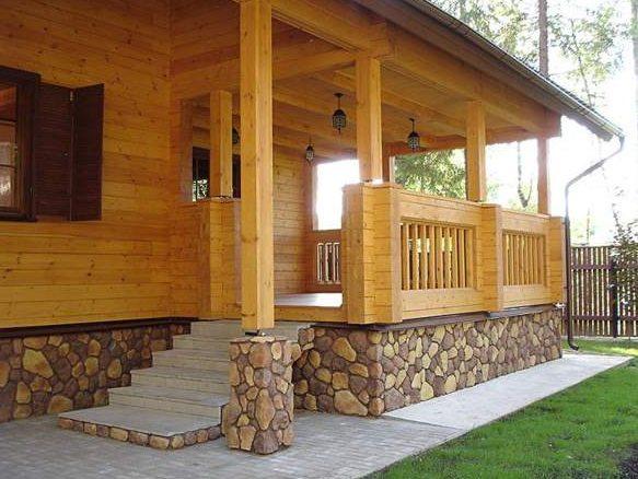 Н фото деревянный дом с верандой