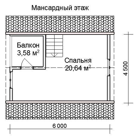 На дополнительной площади можно сделать спальню для гостей.