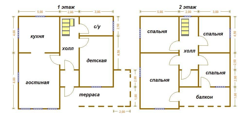 Чертежи домов 10х10