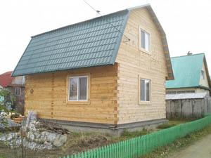 Непрофилированный брус для дома, фото которого представлено, применяется широко