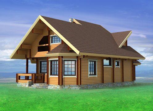 Объемный макет брусового дома