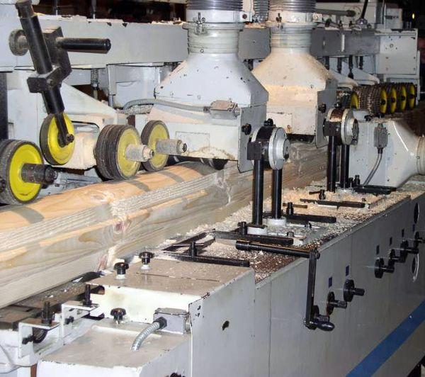 Оборудование по изготовлению бруса профилированного