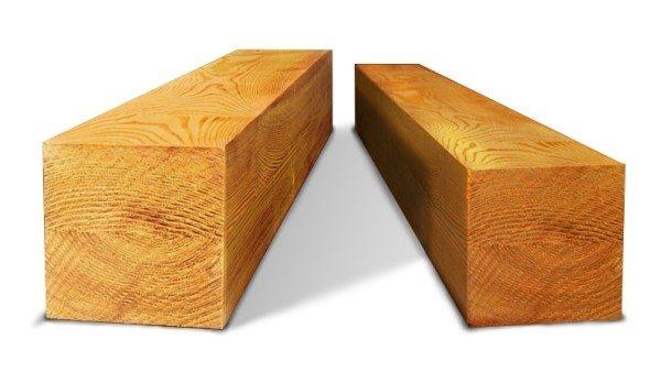 Обычный обрезной брус различного размера.