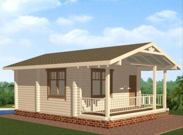 Одноэтажный жилой дом, пригодный для проживания и зимой