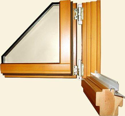 Окно из клееного бруса