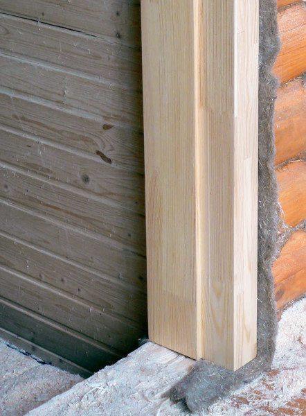 Окосячка дверей с утеплением