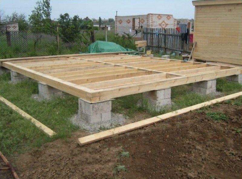 Столбчатый фундамент для каркасного дома своими руками 17