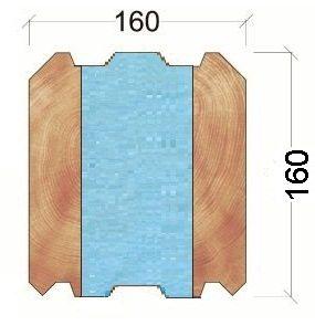 Основой термобруса для домов с повышенной теплоустойчивостью является клееный брус с пенополистиролом