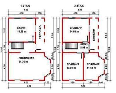 План здания необходим для проведения подсчета материалов.
