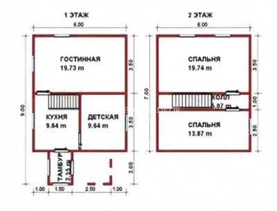 Планы этажей дома.