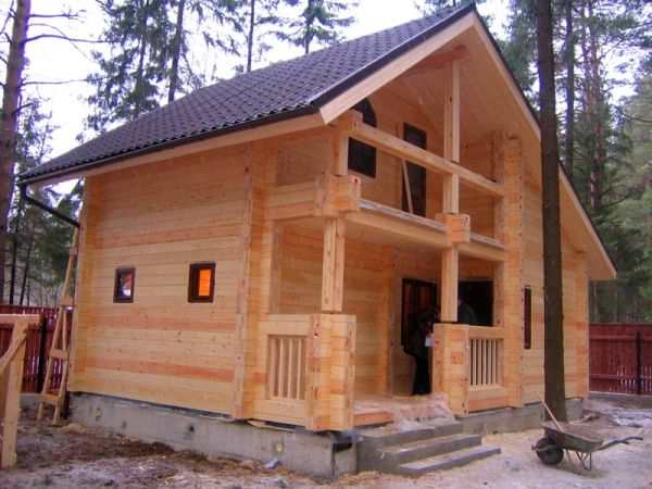 Пример красивого дома из профилированного бревна