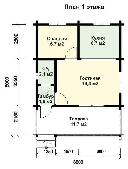 Пример плана первого этажа