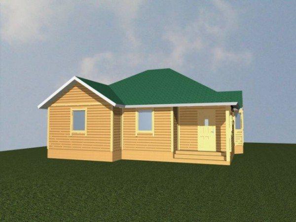Проект дома из бруса 10 на 10