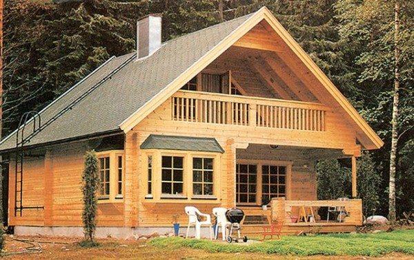 Проект дома из бруса 6х6 с мансардой, воплощенный в жизнь